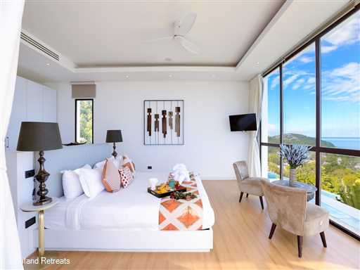 <p>Villa Turquoise 1 is a 4 bedroom stunning high end ocean view contemporary design Koh Samui villa with private gym located just a short hop to Chaweng Beach. Bedrooms all have private terraces and sea views.&nbsp;</p>