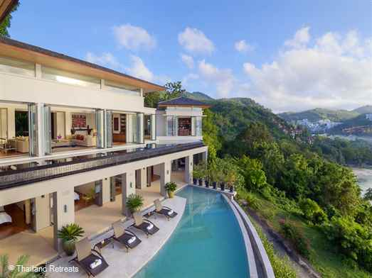 Villa Fah Sai is an award winning designed luxury Phuket villa located on the exclusive Samsara Estate overlooking Naka Lay Bay. Timeless elegance for multi-generation families or groups of adult friends.