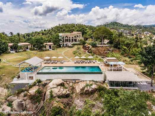 "<p>Villa Koh Koon is a stunning rustic mediterranean style 7 bedroom villa set in a large plot of sprawling lawns overlooking Chaweng Bay. Perfect for extended families, celebrations and weddings. Sleeps max 14 adults &amp; 8 kiddies. <span style=""font-size: 10pt; color: #000080;""><strong>Reduced rates for 5 or 6 bedroom occupancy&nbsp;only with exclusive use of the villa&nbsp;</strong></span></p>"