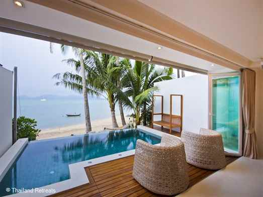 Pano Apartment 1 is a stunning duplex 2 bedroom Koh Samui beach rental with private pool centrally located in popular Fishermans village, Bophut and walking distance to chill out cafes, bars and oceanfront fine dining. Plenty of shopping.