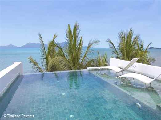 Pano Apartment 2 is one of two duplex 2 bedroom Koh Samui villa rentals with private rooftop pool centrally located in popular Fishermans village, Bophut. Walking distance to chill out cafes, bars and oceanfront fine dining. Plenty of shopping. Stunning views.