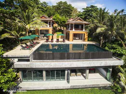 Villa Sunyata is the ultimate luxury Phuket holiday experience for a large group or family. Set in a prime position in Kata on the south west coast of Phuket this 8 bedroom luxury villa has stunning views over the Andaman Sea and walking distance to shops and restaurants.