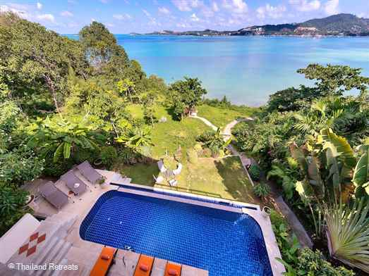 Seven Swifts villa is a spacious comfortable villa located on a small headland separating the Bophut and Big Buddha areas. Has fantastic ocean views and access to the waters edge. A few minutes drive to Fisherman's village and easy access to the nightlife of Chaweng. Perfect family villa.