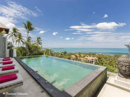 Villa Jaliza is a contemporary design luxury Koh Samui villa located a short drive from the lively town of Chaweng and the beautiful beaches of Chaweng Noi. The villa offers rates for 3 bedroom, 4 bedroom, 5 bedroom and 6 bedroom occupancy.