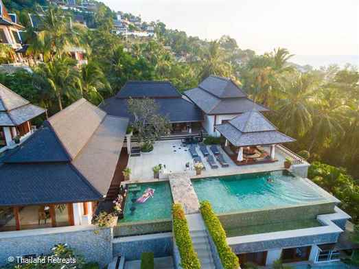 Villa Sanyanga is a beautiful, seven bedroom luxury Phuket villa located above Surin beach. The spacious villa is  Ideal for family reunions, groups of friends, yoga groups and celebrations with plenty of space and privacy for everyone. Complimentary mini-van. Private chef