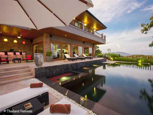 "<p>Baan Phuttarak is a Koh Samui villa with sea views and close to Choeng Mon beach. With arge open plan living areas the villa blends old with new oozing quality and luxury. Communal Tennis court. <span style=""color: #000080;"">The 4 bedroom Baan Phuttarak offers reduced nightly rates for 3 bedroom occupancy with exclusive use of the villa ( certain seasons)</span></p>"