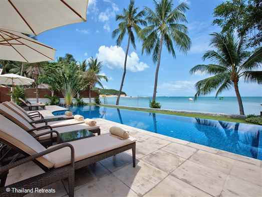 "<p>Baan Tawantok 1 is a 5 bedroom beachfront villa on the beautiful white sands of the 3km long Lipa Noi beach on the sunset facing west coast. Facilities include a shared tennis court, beach volleyball, kayaks and paddle boards. <span style=""color: #000080;"">Offers reduced rates for 3 bedroom occupancy certain seasons.</span></p>"
