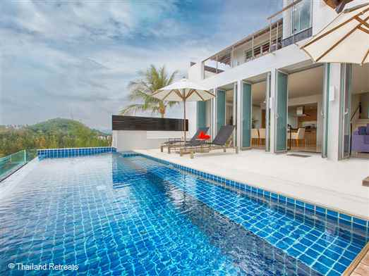Napalai is located on an exclusive estate on the west coast of Phuket within strolling distance of the white sands of Surin beach. This vibrant modern home boasts sea views, a well equipped gym, games room with pool table and spa