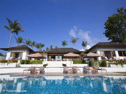 "<p>Baan Apsara is a fabulous Koh Samui 1-3 bedroom holiday villa close to family friendly <a href=""https://www.thailandretreats.com/Location/Choeng-Mon"">Cheong Mon</a> bay. 15 mins drive to lively <a href=""https://www.thailandretreats.com/Location/Chaweng"">Chaweng</a> for shopping and nightlife. Spacious indoor/outdoor areas. Stunning sea views.The perfect family villa. <span style=""color: #000080;"">REDUCED RATES FOR 1 OR 2 BEDROOM OCCUPANCY WITH EXCLUSIVE USE OF THE VILLA</span></p>"