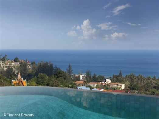 A fabulous 7 bedroom Phuket holiday villa with a curved 16m infinity edge swimming pool and panoramic ocean views. Contemporary designed Villa Beyond is a picture perfect hideaway set on the hillside just a few minutes drive from beautiful Bang Tao beach.