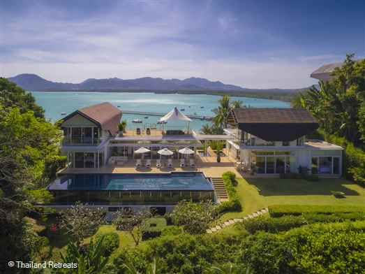 The Bay Villa 15 is a sophisticated luxury Phuket villa located within an exclusive estate on the east coast with panoramic views overlooking two beautiful bays. Has a 20m swimming pool. Walking distance to a quiet beach.