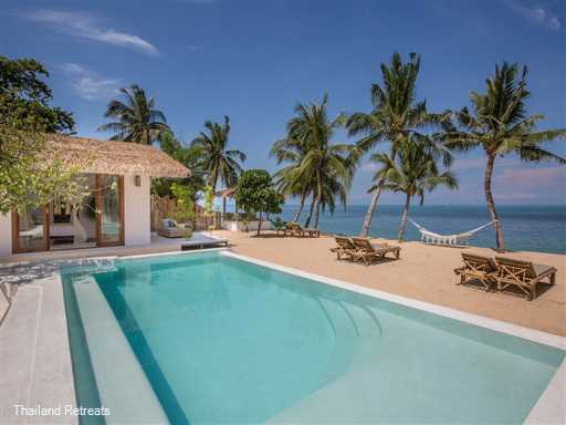 "<p>Kya Beach House is a 3 bedroom beachfront property on the Bang Por beach on the north coast. This newly renovated beach house offers a touch of the tropical lifesyle for guests with twist of shabby chic design. <span style=""color: #0000ff;"">Offers rates for 2 and 3 bedroom use.</span></p>"