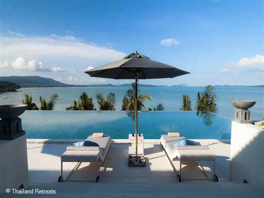 Ocean's 11 is a 6 bedroom luxury Phuket villa with an expansive 26m swimming pool, cinema and fitness room overloooking the Andaman Sea and Phang Na Bay.