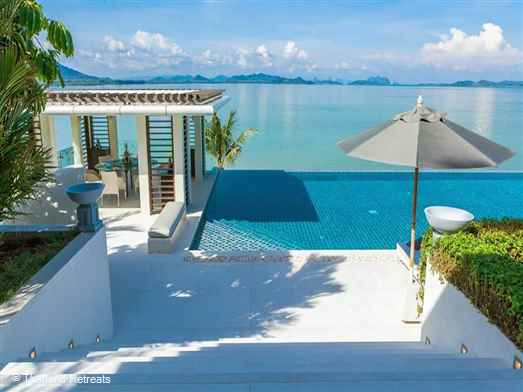 Ocean's 11 is a 6 bedroom luxury Phuket villa enclaved in a private ultra high-end community on a peninsula on the quiet east coast. Has an expansive 26m swimming pool, cinema and fitness room overlooking the Andaman Sea and Phang Na Bay.