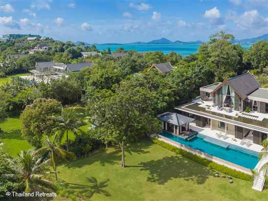 Naam Sawan is a beautiful oceanfront luxury villa located at Cape Panwa on the north east coast of Phuket. Overlooks the islands of Phang Nga bay. Great boating nearby. Perfect for families and romantic honeymoons ( reduced occupancy rates).