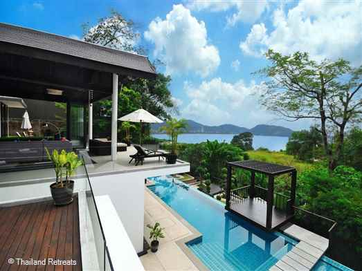 Villa Patong is a modern luxury secluded villa located 50m above sea level with views over Patong Bay.The stylish villa with 850sqm of living space is ideal for families or a group of friends. Offers rates for 6,5 & 4 bedroom occupancy.  All rates available on request.