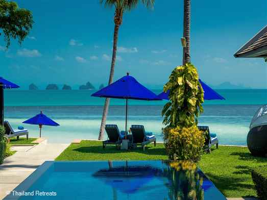 "<p>Villa Akatsuki is a high end luxury beachfront Koh Samui holiday villa with 3 family suites and 2 guest bedrooms sleeping up to 15. Features include, gym, spa, theatre room, ping pong, beach volleyball and use of kayaks.<span style=""font-size: 10pt;""><strong><span style=""color: #000080;""> Reduced rates for 1,2,3 and 4 bedroom occupancy with exclusive use of the villa.</span></strong></span></p>"