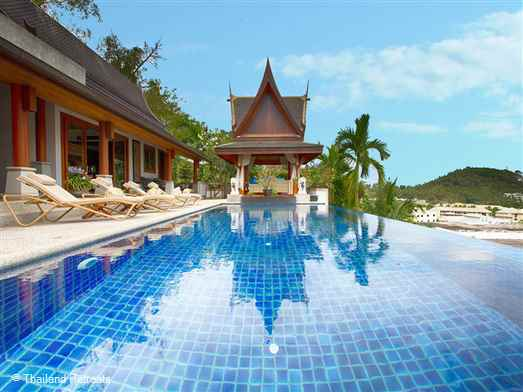 Baan Surin Sawan is situated on an exclusive hillside estate just minutes away from Phuket's popular west coast beaches of Surin and Bang Tao. This elegant villa embraces luxurious, tropical living.