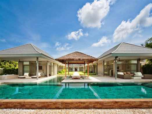 Villa Thimala is a stunning and spacious beachfront villa with a fabulous swimming pool and surrounding lawned gardens. The villa is located in the popular north east of Koh Samui set on a peaceful unspoiled beach with views to the neighbouring islands. Offers rates for 3 bedroom use