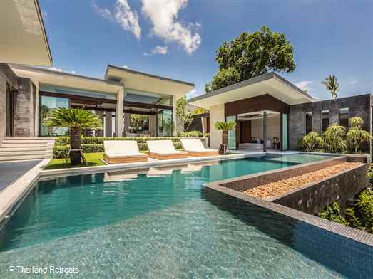 <p>Raku is a beautiful 4 bedroom designer villa with the best quality interior design furnishings. Sweeping views of the neighbouring islands and just a short drive down to palm fringed beaches on the popular north coast of Koh Samui.</p>