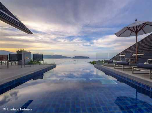Benyasiri is a beautiful villa set within the exclusive Samsara Estate nestled on a  Kamala headland on the west coast of Phuket.  The villa has a 13m pool with kiddies areal, spacious outdoor living areas and the layout is  Ideal for extended families or friends.