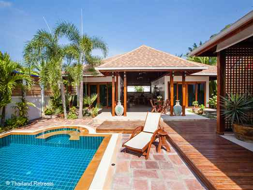 Baan Rengron offers a Thai style experience in a villa with western comfort. Located just 5km from Ao Nong beach the villa offers privacy and relaxation around a 8m x 4m pool