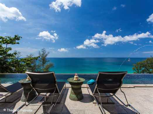 Bluesiam Villa is elevated above beautiful Surin beach on the exclusive Surin Heights Estate and offers 180 degree views of the ocean and a 15 minute walk to the beach. This very private villa can accommodate 20 - 22 persons in 11 ocean view bedrooms.