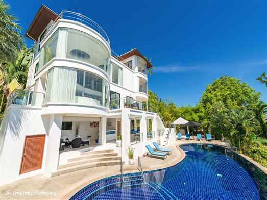 White Stone is a modern luxury villa situated on the the West Coast of Koh Samui, thus experiencing amazing Koh Samui sunsets. Spacious entertainment areas including pool table, table tennis and a TV room. Offers rates for 2 and 4 bedroom occupancy.