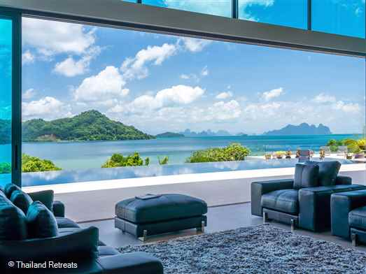 Villa Nautilus is a sleek 5 bedroom Phuket holiday villa with jaw dropping views over Phang Nga Bay. This luxury haven is a perfect choice for those seeking a private Phuket villa away from the tourist crowds.