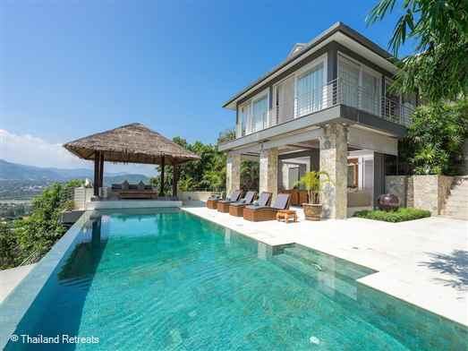 Kimsacheva Villa is a great value and spacious 6 bedroom Koh Samui villa located just minutes from the lively hub of Chaweng Beach. Ideal for an extended family or groups of friends the villa has a private swimming pool and sea views