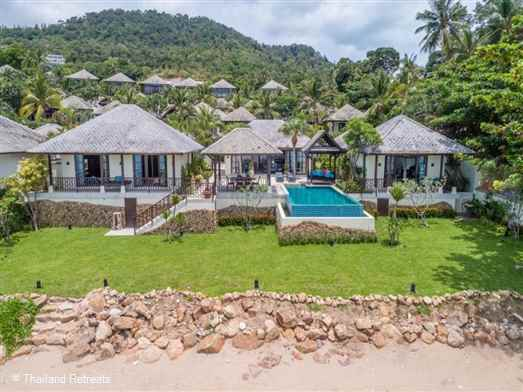 "<p>The Beach House is one of just two 4 bedroom luxury beachfront villas set within a secure resort just a short hop from the beautiful beaches of <a href=""https://www.thailandretreats.com/Location/Chaweng"">Chaweng </a>and <a href=""https://www.thailandretreats.com/Location/Choeng-Mon"">Choeng Mon</a>. The villa has a small beach area in front of the villas as well as a lawn area. Resort facilities include fitness and kids club</p>"