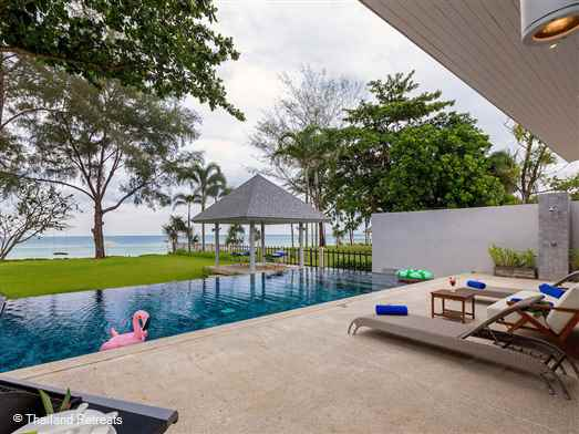 <p><span>Twin Villas Natai - North is one of two elegant 5 bedroom villas fronting 10-kilometre stretch of sand on the Andaman coast. With a private pool and beachfront lawn the villa is perfect for that family holiday.</span></p>