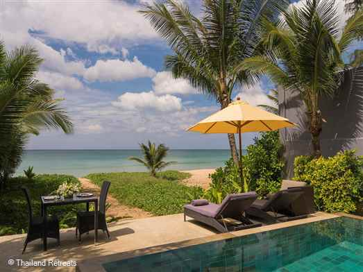 Infinity Blue is a 4 bedroom beachfront villa offering a haven of peace and contemporary style with its toes in the soft sand of peaceful Natai Beach.  Offers rates for 2,3 and 4 bedroom occupancy