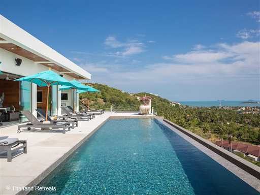 <p>Villa Danisa is a beautifully appointed 4 bedroom luxury Koh Samui sea view villa ideally located in the north east of the island and just 10 minutes from hotspots including 2 stunning beaches and the popular Fisherman's Village. Has 16m pool, games room, firness and spa room.</p>