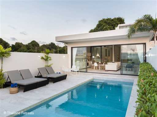 <p>Villa Saam at Skye Beach Villas is an elegant contemporary design 2 bedroom villa with private pool steps away from a soft sand beach and conveniently located on the north east coast of Koh Samui. Being one of 4 similar villas the services including a chef service are on par with staying at a 4/5 star hotel.</p>