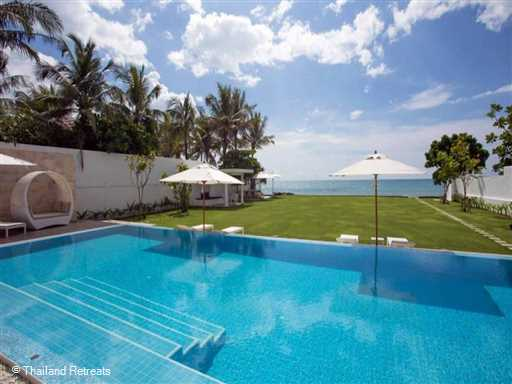 <p>Villa Summer Estate is a magnificent contemporary style 4 bedroom luxury beachfront villa set on the golden sands of Natai Beach in Phang Nga just 25 mins from Phuket airport. Features include a super swimming pool, a well equipped gym a separate TV lounge, ample outdoor relaxing lawned areas and stunning ocean views.</p>  <p></p>  <p></p>