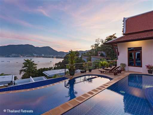 <p>Pra Nang Villa is a fabulous 5 bedroom villa - all ensuite with sweeping views over Patong Bay from all the rooms as well as poolside. Served by 2 full time staff, the villa is just a few minutes drive to the beach. Villa facilities include a 2 tier ocean facing pool, basic fitness equipment, table tennis and a pool table.</p>