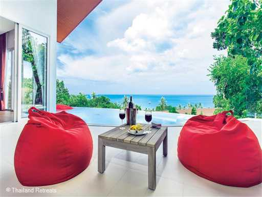 <p>Eranda Chic Pool Villa 1 is a 3 bedroom pool villa with sea views conveniently located on the outskirts of Chaweng beach and main town and a short distance from the family beach of Choeng Mon and adjacent village.</p>