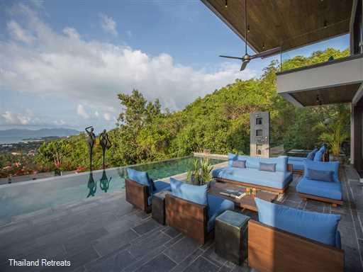 """<p><span>Villa Orca is an impressive luxury Koh Samui villa set in natural surroundings with stunning ocean views. This 5 bedroom stylish Art villa includes a family suite and is conveniently located on a tropical hillside just 2 minutes from family friendly Choeng Mon Beach and easy access to popular hotspots such as Fishermans Village &amp; Chaweng Beach. <span style=""""font-size: 10pt; color: #000080;"""">Reduced rates for 4 &amp; 3 bedroom occupancy only&nbsp;</span></span></p>"""